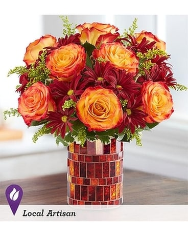 FALL WAVES OF AMBER Flower Arrangement