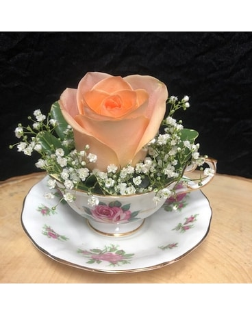 Cup Of Love Flower Arrangement