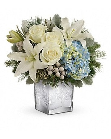 Teleflora's Silver Snow Bouquet Custom product