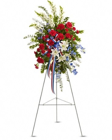 Standing sprays wreaths delivery silver spring md aspen hill florist sacred duty spray mightylinksfo
