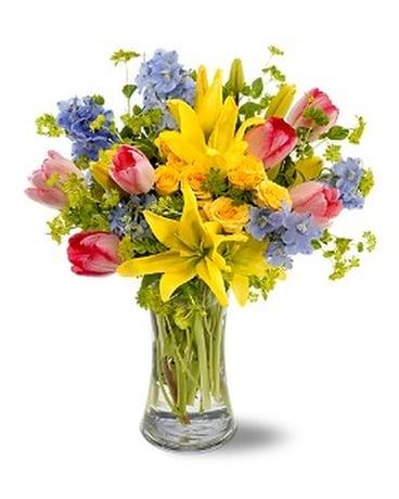 Spring delight in hot springs ar johnson floral co spring delight flower arrangement mightylinksfo