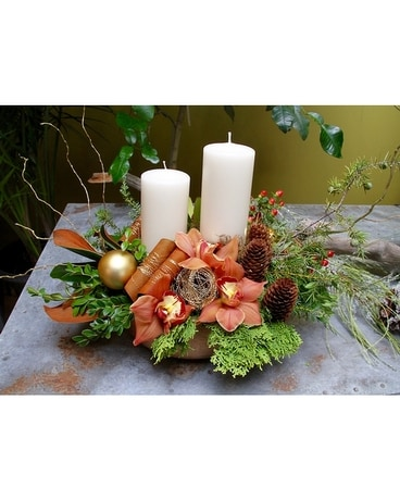 Country Pillars Flower Arrangement