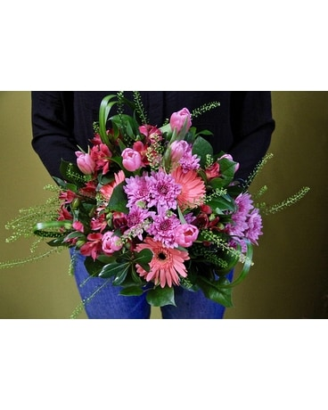Pinks & Mauves Arranged Flower Arrangement