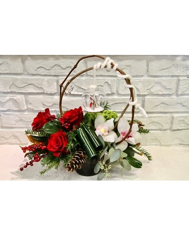 Winter Fresh Flower Arrangement