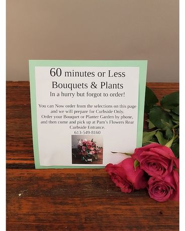 READY IN 60 Minutes or Less Bouquets Flower Arrangement