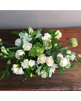 Glorious Whites by Pam Flower Arrangement