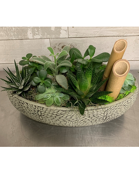 Peaceful Zen Garden Bloom Dish Garden Plant