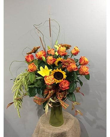 Lafayette Florist's Harvest Rose Bouquet Flower Arrangement