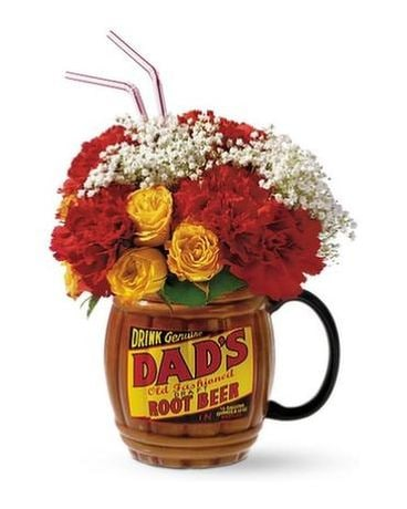 Dad's Rootbeer Flower Arrangement