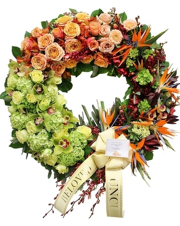 Tropical Wreath Flower Arrangement