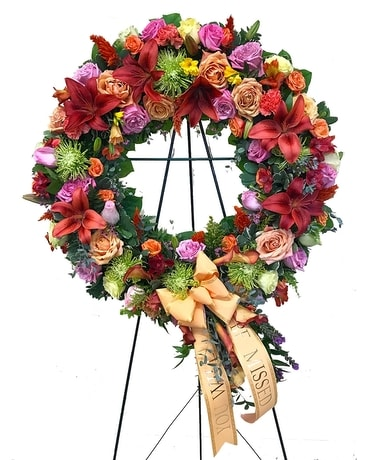 Deep Coral Wreath Wreath