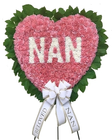 NAN Pink Heart Flower Arrangement
