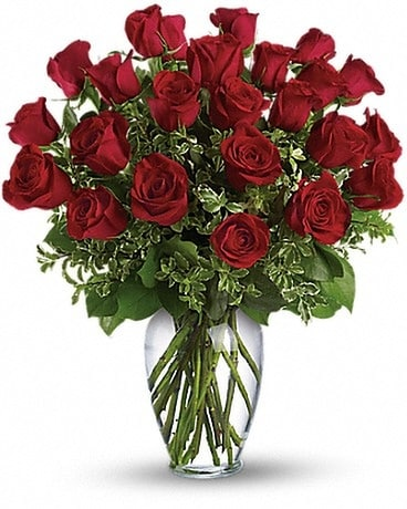 Two Dozen Long Stem Roses Flower Arrangement