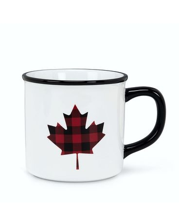 Plaid Maple Leaf Mug Gifts