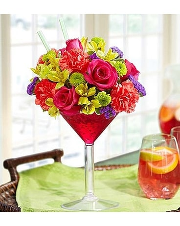 Sangria flower cocktail