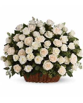 Bountiful Rose Basket Flower Arrangement