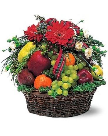 Fabulous Fruit Basket Flower Arrangement ...