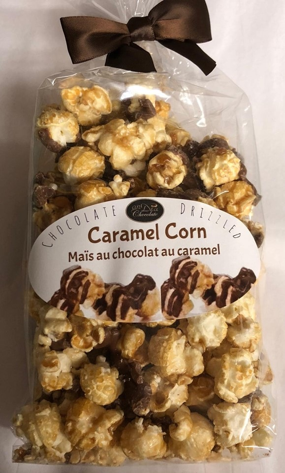 Popcorn with chocolate