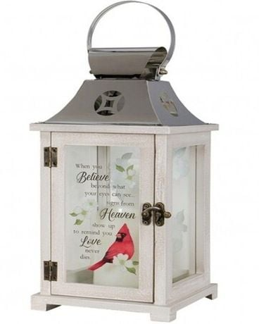 Carson Cardinal Heaven Memorial Lantern Flower Arrangement