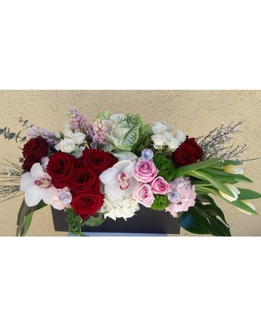 Rectangular Box Arrangement Flower Arrangement