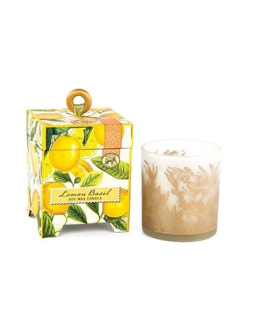 Michel Design Lemon Basil Soy Candle small Gifts