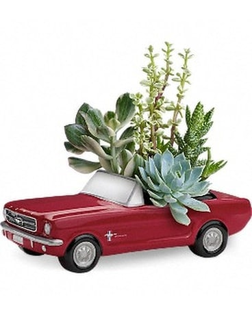 Dream Wheels '65 Ford Mustang by Teleflora Flower Arrangement