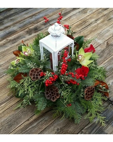 Victorian Christmas Flower Arrangement
