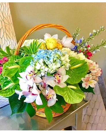 Mixed floral basket Basket Arrangement