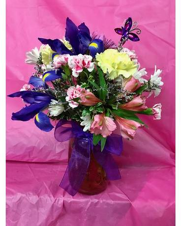 Country Spring Flower Arrangement