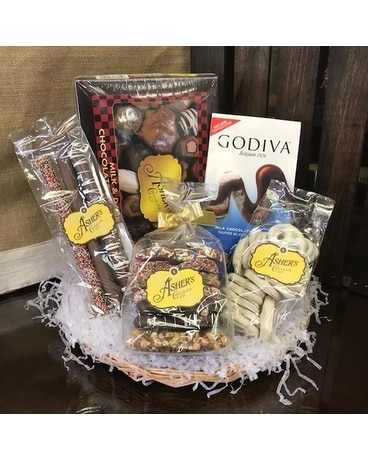 Local Gourmet Chocolates Basket` Gift Basket