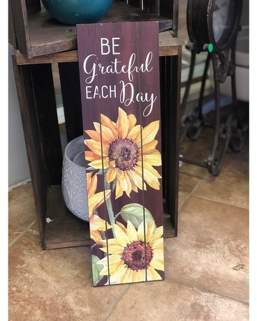Wooden Sunflower Sign Gifts
