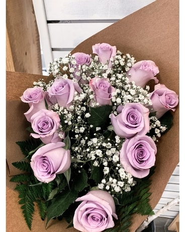 Long Stem Coloured Roses Flowers