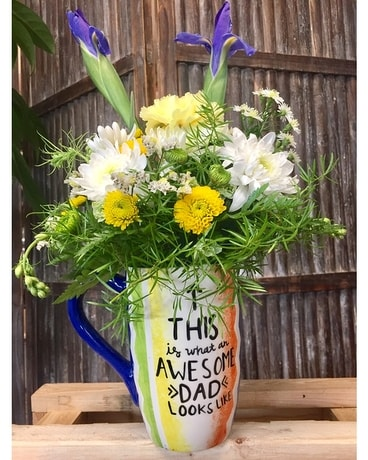 Awesome dad mug Flower Arrangement