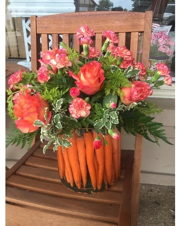 Fun Carrots Flower Arrangement