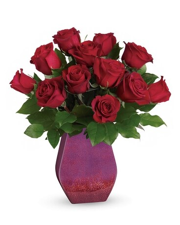 Red Rose Radiance Flower Arrangement