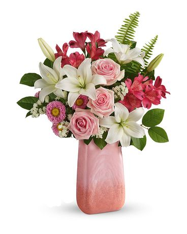 Teleflora's Pink n' Peach Paradise Bouquet Flower Arrangement