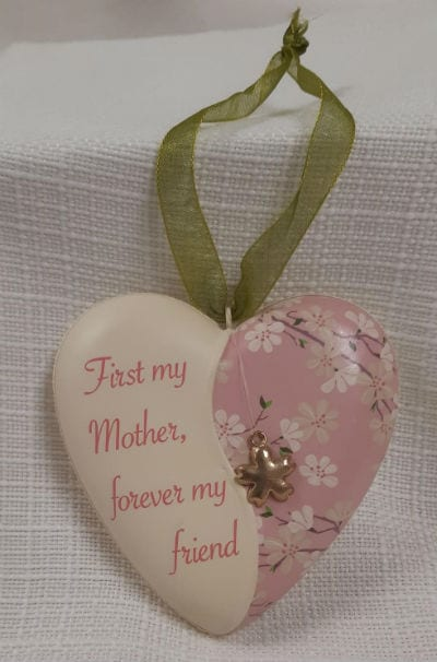 First My Mother Heart Ornament