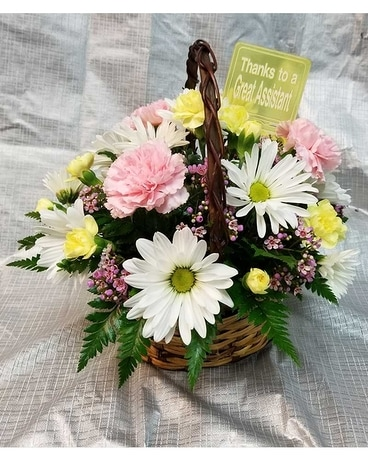Secretaries Week Special in a Basket Flower Arrangement