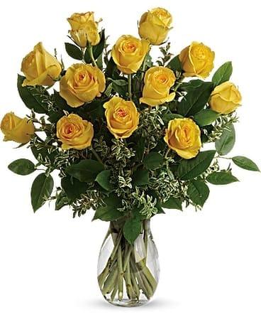 Say Yellow Bouquet Flower Arrangement