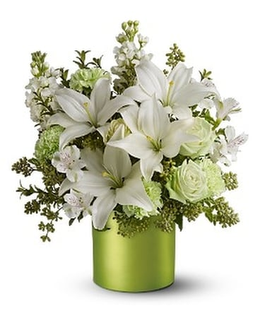 Teleflora's Sea Spray - Deluxe Flower Arrangement