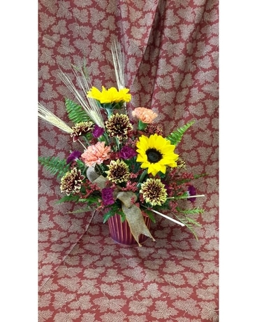 The villages florist flower delivery by the villages florist inc autumn harmony flower arrangement mightylinksfo