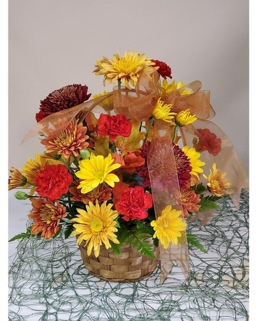 FALL BASKET Flower Arrangement