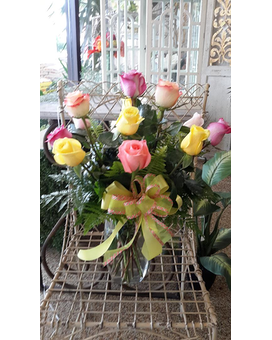 12 MIXED ROSES SUMMER SPECIAL Flower Arrangement