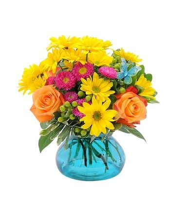 Hugs & Smiles Flutter Bouquet Flower Arrangement