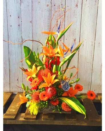 Orange Zen Crush Flower Arrangement