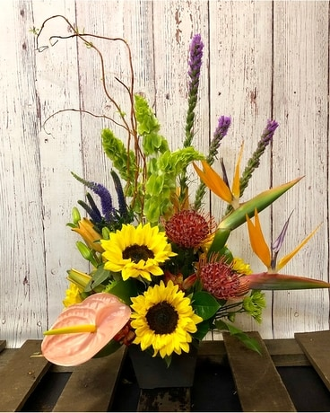 Tropical Sunflowers Flower Arrangement