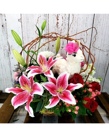 Whole Llama Love - Classic Flower Arrangement
