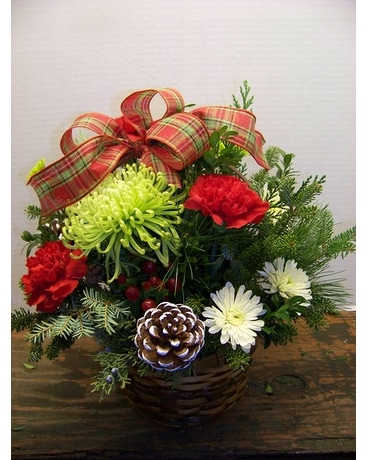 PLAID BASKET Flower Arrangement