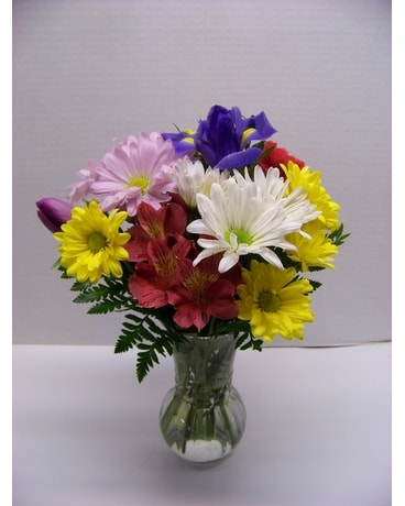 SPRINGY Simple Vase Flower Arrangement
