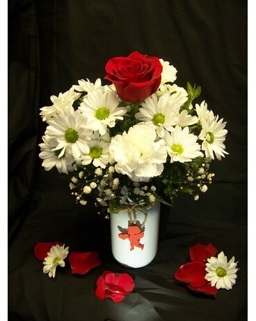 WHITE HOT LOVE Flower Arrangement